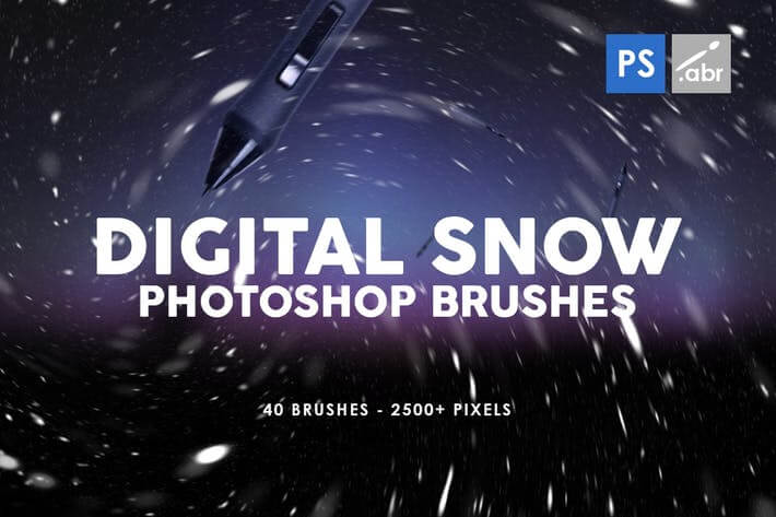 Digital Snow Photoshop Brush
