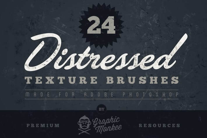 Distressed Texture Photoshop Brush
