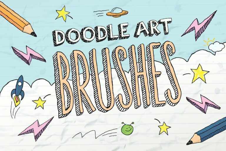 Doodle Art Photoshop Brush