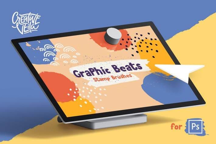 Graphic Beats Photoshop Brush