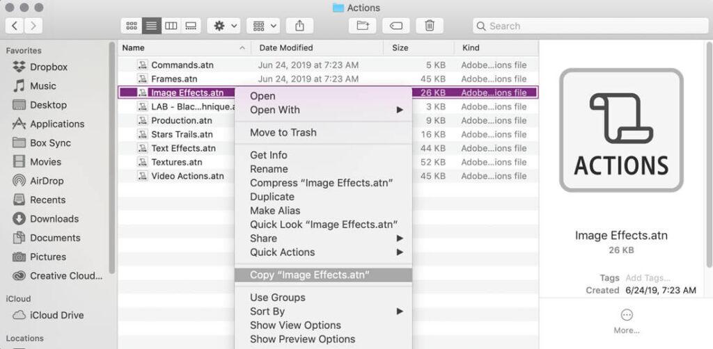 actions-folder